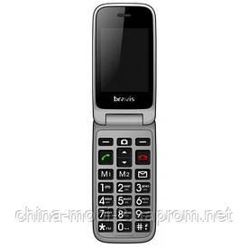 Телефон Bravis C244 Signal Dual. Кольори: чорний і червоний