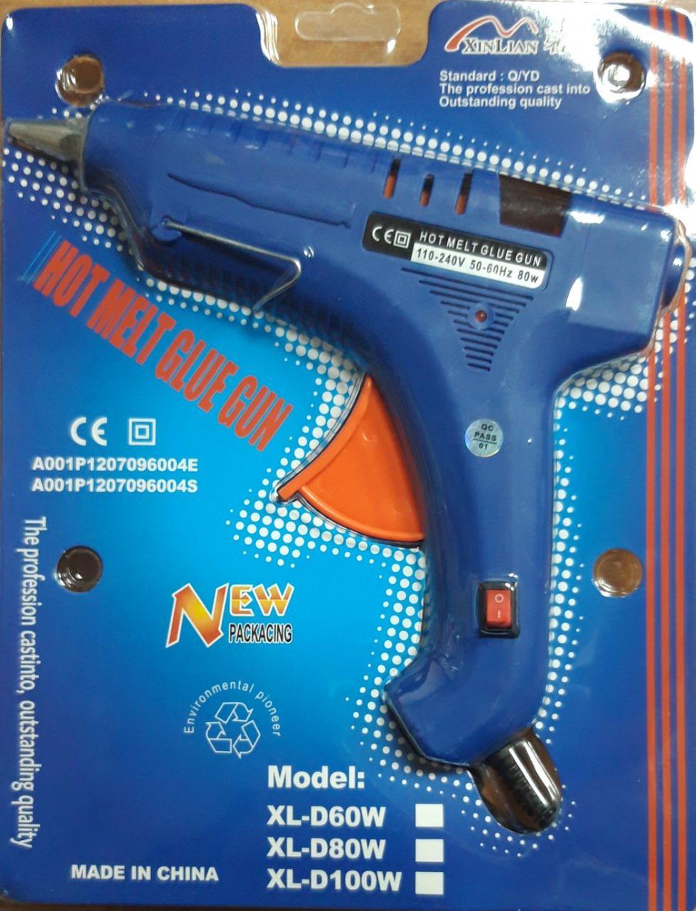 Пистолет для термо клея (1.1см 80W) с индикатором, с кнопкой, с подставкой IMG4752