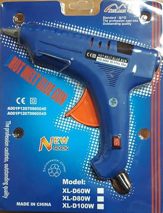 Пистолет для термо клея (1.1см 80W) с индикатором, с кнопкой, с подставкой IMG4752, фото 2