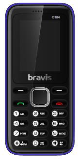 Телефон Bravis C184 Pixel. Цвета: красный, синий, черный