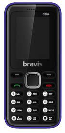 Телефон Bravis C184 Pixel. Кольори: червоний, синій, чорний
