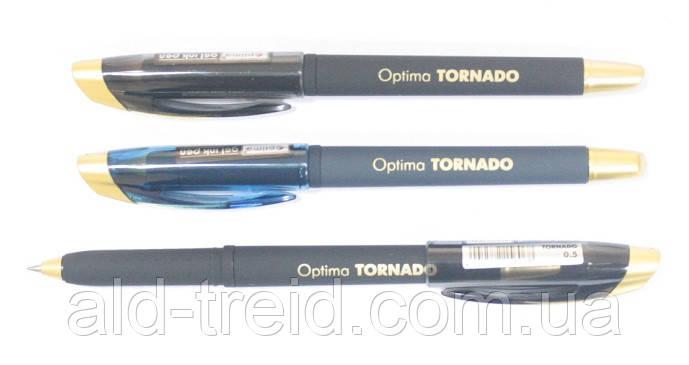 Ручка гелевая Optima Tornado 0,5мм 15606 черная