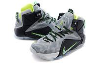 Баскетбольные кроссовки Nike Lebron 12 серые