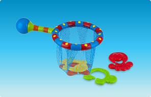 Сачек с игрушками-прорезывателями для купания, 18m+ Nuby (6142)