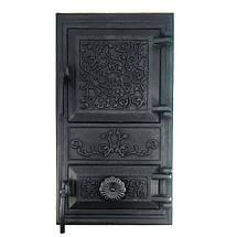 Спарені дверцята для печей без скла, чавунні пічні дверцята