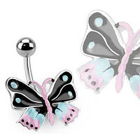 Пирсинг пупка PiercedFish BUT-25 в форме бабочки