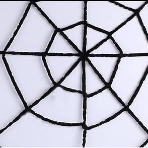 Большая паутина прикол! Жуткая паутина 3,6м! декоративная, велюровая, фото 2