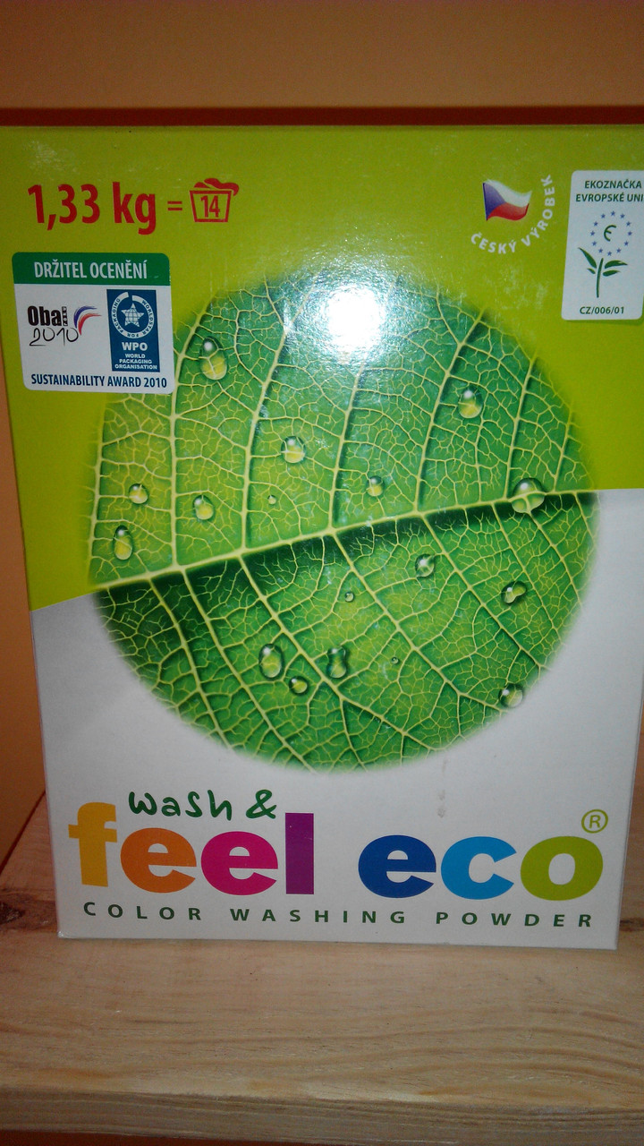 Стиральный порошок для цветного белья а/м без фосфатов 1.33 кг Feel Eco