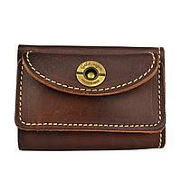 Кошелек кожаный, бумажник, женский Gato Negro Mini Brown ручной работы