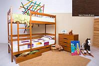 Двухъярусная кровать Дисней 90х200, 2-х ярусная кровать, цвет темный орех