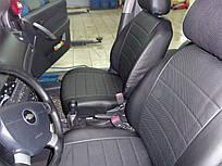 Чехлы на сиденья Ауди А4 Б5 (Audi A4 B5) (универсальные, экокожа, отдельный подголовник)
