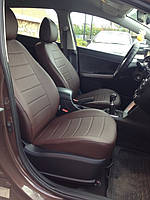 Чехлы на сиденья Ауди 100 С3 (Audi 100 C3) (универсальные, экокожа, отдельный подголовник), фото 1