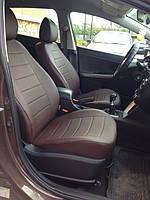 Чехлы на сиденья Фиат Линеа (Fiat Linea) (универсальные, экокожа, отдельный подголовник)