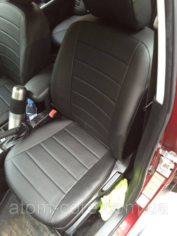 Чехлы на сиденья Хонда Цивик (Honda Civic) (универсальные, экокожа, отдельный подголовник)