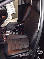 Чехлы на сиденья Хендай Гетц (Hyundai Getz) (универсальные, экокожа, отдельный подголовник)