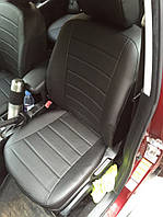 Чехлы на сиденья Опель Астра G (Opel Astra G) (универсальные, экокожа, отдельный подголовник)