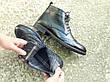 Мужские демисезонные натуральные кожаные броги\полуботинки, фото 4