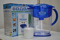 """Фильтр кувшин """"Водолей"""" Арго для очистки воды (уголь, цеолит, шунгит, от примесей, бактерии, минерализация)"""