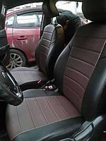 Чехлы на сиденья Тойота Авенсис (Toyota Avensis) (универсальные, экокожа, отдельный подголовник)