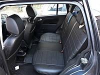 Чехлы на сиденья БМВ Е34 (BMW E34) (универсальные, экокожа, отдельный подголовник) черный