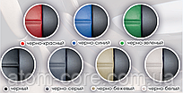 Чехлы на сиденья Саманд ЛХ (Samand LX) (универсальные, экокожа, отдельный подголовник) черно-зеленый