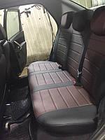 Чехлы на сиденья Саманд ЛХ (Samand LX) (универсальные, экокожа, отдельный подголовник) черно-коричневый