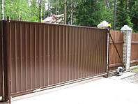 Автоматические откатные ворота (сдвижные ворота)