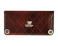 Кошелек кожаный, бумажник Gato Negro Alfa-X Brown ручной работы