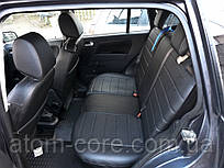 Чехлы на сиденья Сузуки Свифт (Suzuki Swift) (универсальные, экокожа, отдельный подголовник) черный
