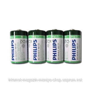 Батарейка Philips R20 UM1 Mono A
