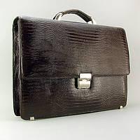 Портфель кожаный мужской классический каркасный Desisan 205-142, фото 1