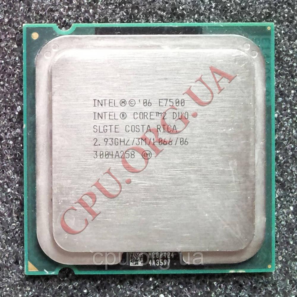 Процессор Intel Core 2 Duo E7500 2,93GHz/3M/1066 LGA775 (SLGTE)