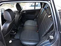 Чехлы на сиденья Хонда Цивик (Honda Civic) (универсальные, экокожа, отдельный подголовник) черный