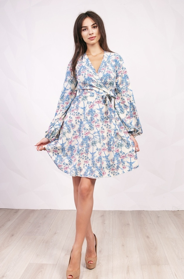56d063ea25b Короткое Платье с Запахом TO-757 — в Категории