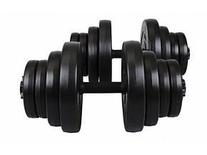 Гантели композитные Hop-Sport 2 х 21 кг, фото 2