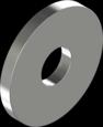 Шайба из нержавеющей стали А2 увеличенная под заклёпки DIN 9021