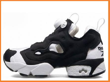 Женские кроссовки Reebok Insta Pump Fury OG Black White (Рибок Инста Памп 53ecf887eaf81