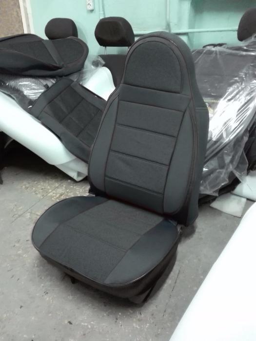 Чехлы на сиденья БМВ Е39 (BMW E39) (универсальные, экокожа, пилот)