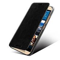 Кожаный чехол книжка MOFI для HTC One M9 черный, фото 1