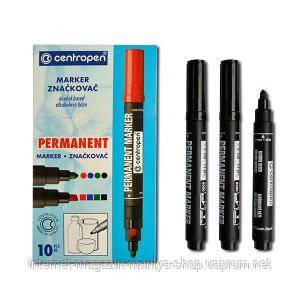 8566 Centropen маркер толст. Черн