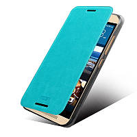 Кожаный чехол книжка MOFI для HTC One M9 бирюзовый