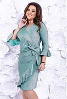 1df60b3280b8 Фиолетовое Платье-футляр с Бантом на Талии Д-1229 — в Категории ...