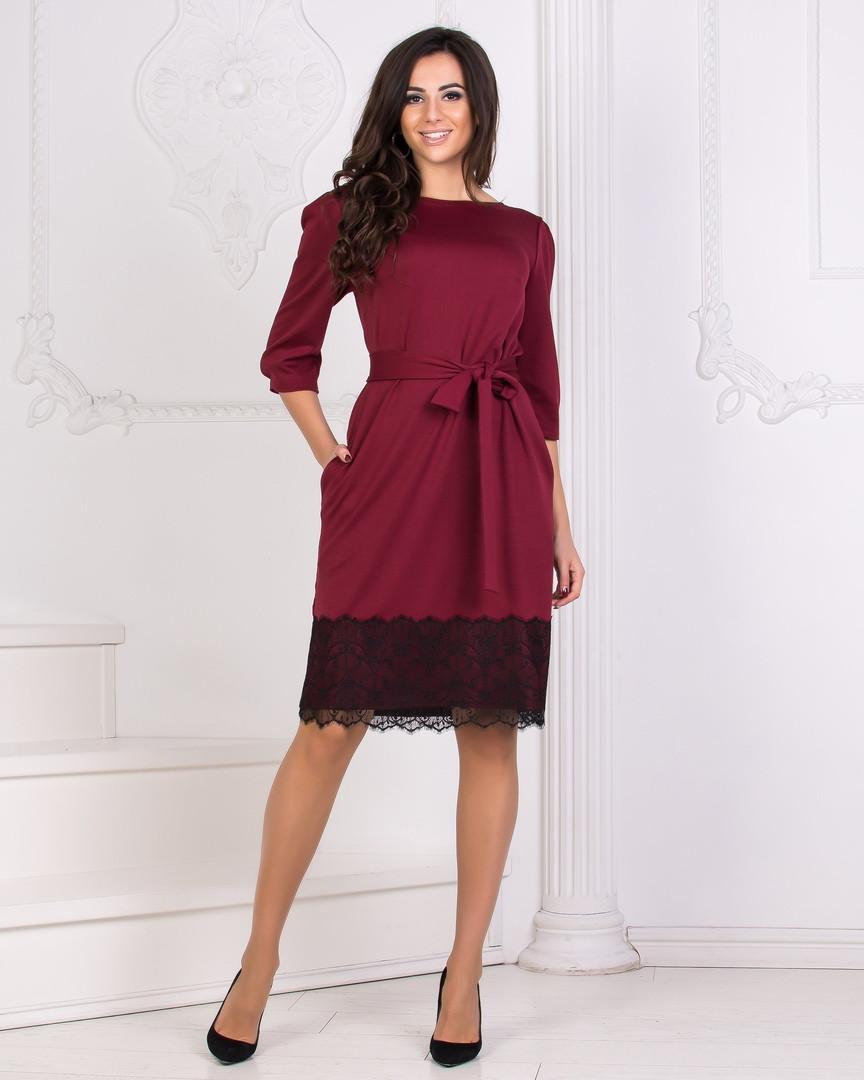 8f0eb6fc632 Платье Трикотажное с Кружевом DG-c41167 — в Категории
