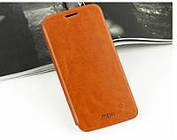 Кожаный чехол книжка MOFI для Samsung Galaxy S6 коричневый