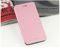 Кожаный чехол книжка MOFI для Samsung Galaxy S6 розовый