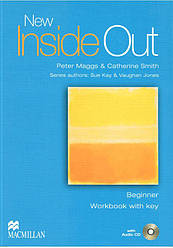 New Inside Out Beginner Workbook with key and Audio CD