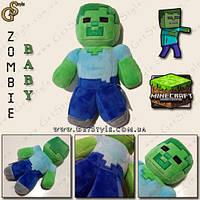 """Плюшевая игрушка Ребенок Зомби из Minecraft - """"Baby Zombie"""" - 16 см."""