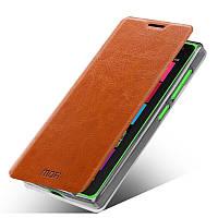 Кожаный чехол книжка MOFI для Microsoft Lumia 532 коричневый