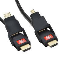 Кабель качественный HDMI ZHQ 4-в-1 Ultra HD 4K 3D 120 Hz для видеокамер, проекторов, телевизоров, фотоапаратов, фото 1