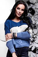 Красивый вязаный свитер AK-31842